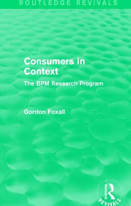 Behavior analysis and consumer psychology