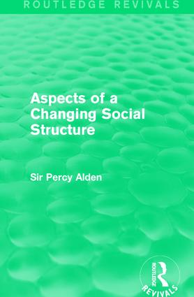 Aspects of a Changing Social Structure: 1st Edition (Paperback) book cover