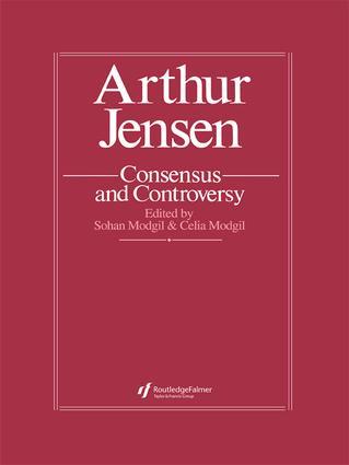 Arthur Jensen: Consensus And Controversy