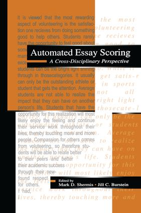 Automated Essay Scoring: A Cross-disciplinary Perspective book cover