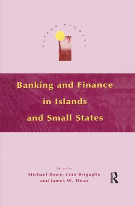 Banking and Finance in Islands and Small States: 1st Edition (Paperback) book cover