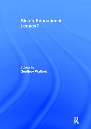 Blair's Educational Legacy? book cover