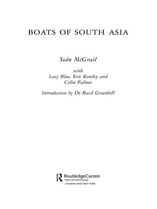 Boats of South Asia: 1st Edition (Paperback) book cover