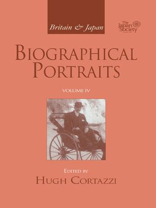 Britain and Japan: Biographical Portraits, Vol. IV book cover