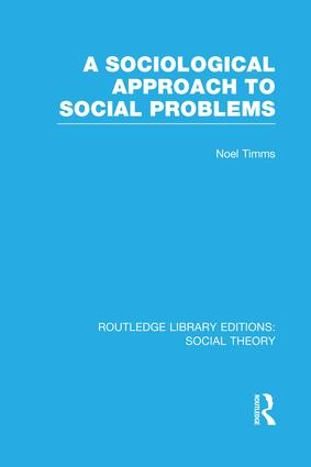 A Sociological Approach to Social Problems book cover