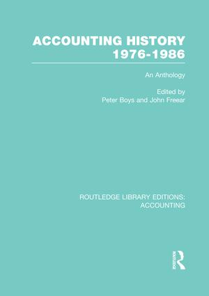 Accounting History 1976-1986 (RLE Accounting): An Anthology book cover