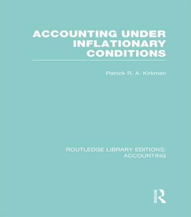 Accounting Under Inflationary Conditions (RLE Accounting): 1st Edition (Paperback) book cover
