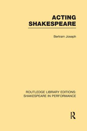 Acting Shakespeare book cover