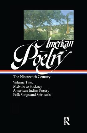 American Poetry: The Nineteenth Century: 2 Volume Set book cover