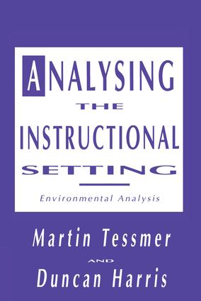 Analysing the Instructional Setting: A Guide for Course Designers, 1st Edition (Paperback) book cover