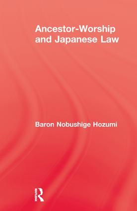 Ancestor Worship & Japanese Law