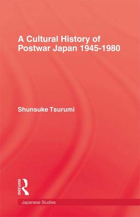 Cultural History Of Postwar Japa: 1st Edition (Paperback) book cover
