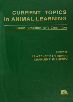 Current Topics in Animal Learning: Brain, Emotion, and Cognition, 1st Edition (Paperback) book cover