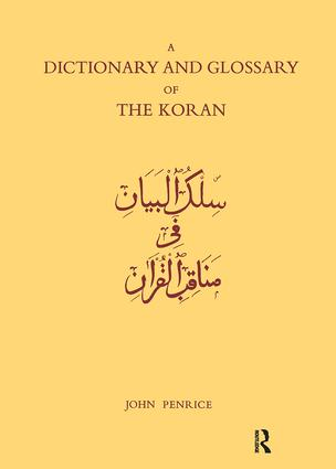 Dictionary and Glossary of the Koran: In Arabic and English book cover