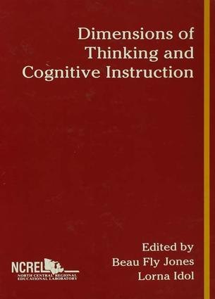 Dimensions of Thinking and Cognitive Instruction: 1st Edition (Paperback) book cover