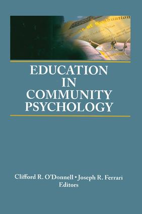 Education in Community Psychology: Models for Graduate and Undergraduate Programs, 1st Edition (Paperback) book cover
