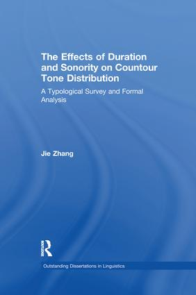 The Effects of Duration and Sonority on Countour Tone Distribution: A Typological Survey and Formal Analysis book cover