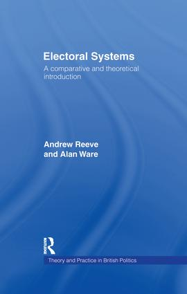 Electoral Systems: A Theoretical and Comparative Introduction book cover