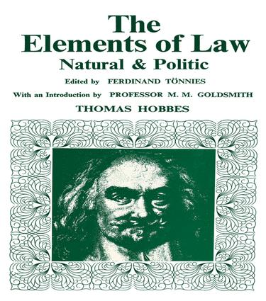 Elements of Law, Natural and Political: 1st Edition (Paperback) book cover