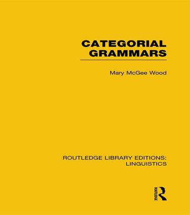 Categorial Grammars book cover