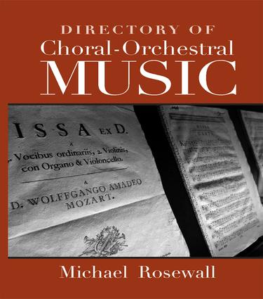 Directory of Choral-Orchestral Music: 1st Edition (Paperback) book cover