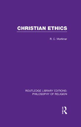 Christian Ethics book cover
