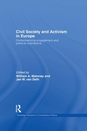 Civil Society and Activism in Europe: Contextualizing engagement and political orientations book cover