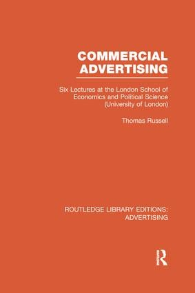 Commercial Advertising book cover