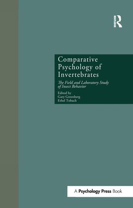 Comparative Psychology of Invertebrates: The Field and Laboratory Study of Insect Behavior book cover