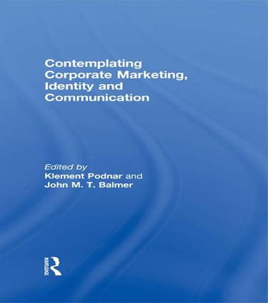 Contemplating Corporate Marketing, Identity and Communication: 1st Edition (Paperback) book cover