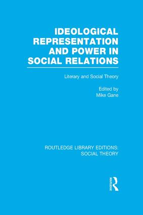 Ideological Representation and Power in Social Relations: Literary and Social Theory, 1st Edition (Paperback) book cover