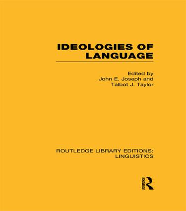 Ideologies of Language: 1st Edition (Paperback) book cover
