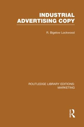 Industrial Advertising Copy (RLE Marketing) book cover