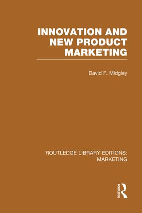 Innovation and New Product Marketing (RLE Marketing) book cover