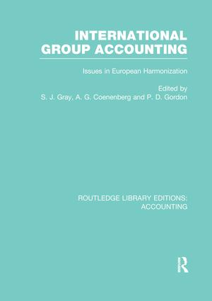 International Group Accounting (RLE Accounting): Issues in European Harmonization, 1st Edition (Paperback) book cover