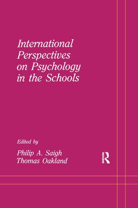 School Psychology in Canada: Views on Its Status: Florent Dumont