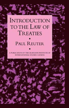 Introduction To The Law Of Treat: 1st Edition (Paperback) book cover
