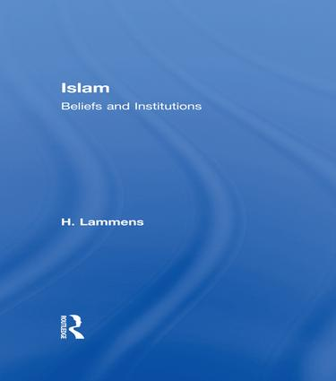 Islam: Beliefs and Institutions, 1st Edition (Paperback) book cover