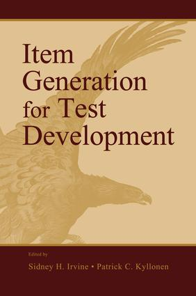 Item Generation for Test Development: 1st Edition (Paperback) book cover