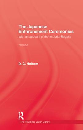 Japanese Enthronement Ceremonies: 1st Edition (Paperback) book cover