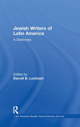 Jewish Writers of Latin America: A Dictionary book cover