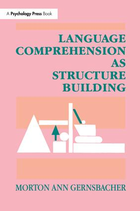 Language Comprehension As Structure Building: 1st Edition (Paperback) book cover