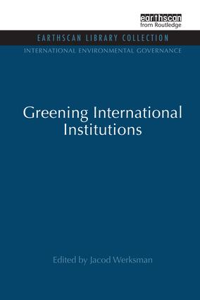 Greening International Institutions book cover