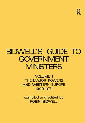 Guide to Government Ministers