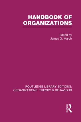Handbook of Organizations (RLE: Organizations): 1st Edition (Paperback) book cover