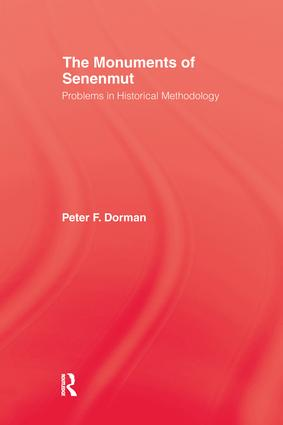 Monuments Of Senemut: 1st Edition (Paperback) book cover
