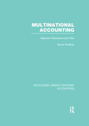 Multinational Accounting (RLE Accounting): Segment Disclosure and Risk, 1st Edition (Paperback) book cover
