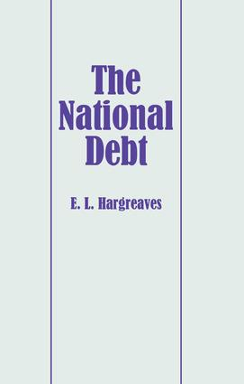The National Debt: 1st Edition (Paperback) book cover