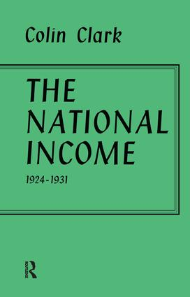 National Income 1924-1931: 1st Edition (Paperback) book cover