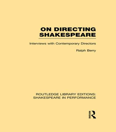 On Directing Shakespeare book cover